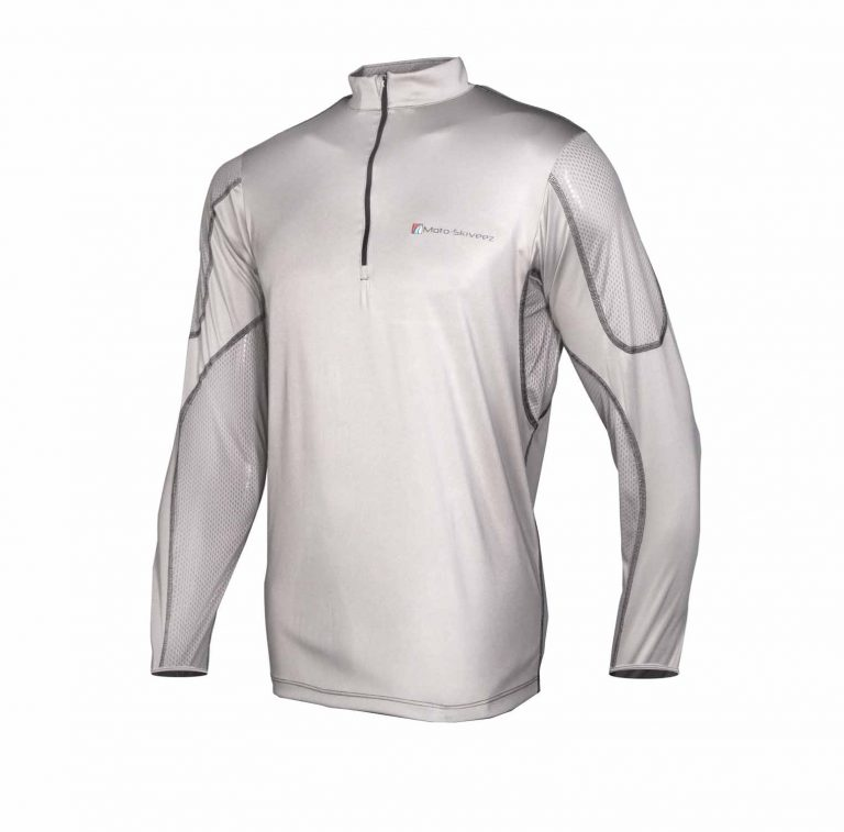 Moto-Skiveez Technical Riding Shirt Light Grey